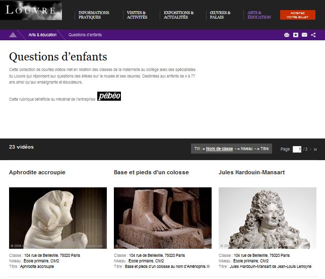 Questions d'enfants - Louvre