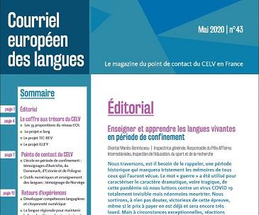 Courriel européen des langues n° 43 : Enseigner et apprendre les langues vivantes en période de confinement