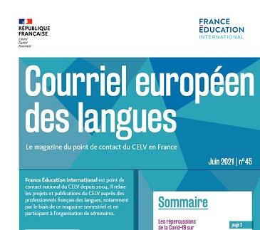 Courriel européen des langues n° 45 : Les répercussions de la Covid-19 sur l'éducation aux langues