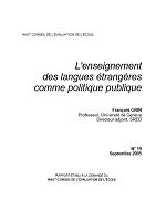 L'enseignement des langues étrangères comme politique publique