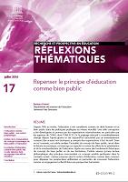 n° 17 - juillet 2016 - Repenser le principe d'éducation comme bien public