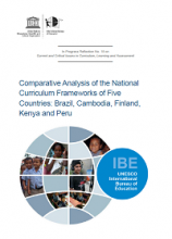 Comparative analysis of the national curriculum frameworks of five countries: Brazil, Cambodia, Finland, Kenya and Peru