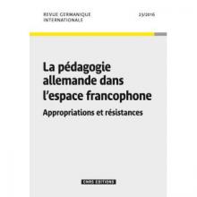 n° 23 - 2016 - La pédagogie allemande dans l'espace francophone : appropriations et résistances