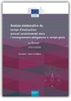 Analyse comparative du temps d'instruction annuel recommandé dans l'enseignement obligatoire à temps plein en Europe - 2017/2018