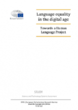 Language equality in the digital age: towards a human language project - study
