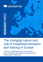 The changing nature and role of vocational education and training in Europe: volume 4: changing patterns of enrolment in upper secondary initial vocational education and training (IVET) 1995-2015