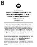 La déréglementation des frais de scolarité : à la conquête du marché des étudiants internationaux