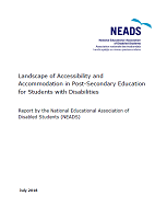 Landscape of accessibility and accommodation in post-secondary for students with disabilities