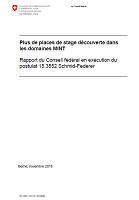 Plus de places de stage de découverte dans les domaines MINT : rapport du Conseil fédéral en exécution du postulat 15.3552 Schmid-Federer