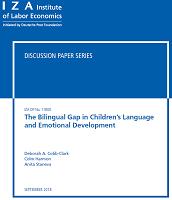 The bilingual gap in children's language and emotional development