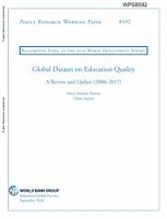 Global dataset on education quality: a review and update (2000–2017): background paper to the 2019 World Development Report