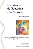 vol. 50, n° 1-2 - 2017 - 1967-2017 : les sciences de l'éducation en France 50 ans après, regards croisés