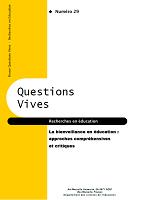n°29 - 2018 - La bienveillance en éducation : approches compréhensives et critiques