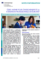 - janvier 2019 - Quel avenir pour l'enseignement et la la formation professionnels en Europe ?