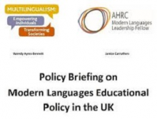 Policy briefing on modern languages educational policy in the UK
