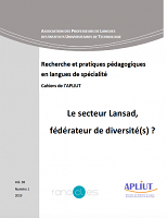vol. 38, n° 1 - 2019 - Le secteur Lansad, fédérateur de diversité(s) ?