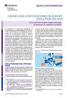 N° 9139 FR - mai 2019 - Cadres des certifications en Europe : évolution en 2018 : tirer parti des acquis d'apprentissage, promouvoir la confiance mutuelle
