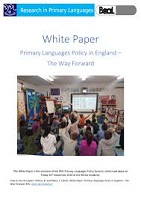 White paper: primary languages policy in England: the way forward