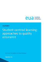 Student-centred learning: approaches to quality assurance