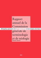 Rapport annuel de la commission générale de terminologie et de néologie