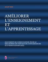 Améliorer l'enseignement et l'apprentissage : document de consultation pour le mécanisme de partage de connaissances et d'innovations (KIX)