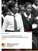 L'éducation secondaire en Afrique : préparer les jeunes pour l'avenir du travail
