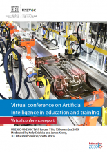 Virtual conference on artificial intelligence in education and training : virtual conference report