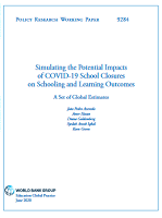 Simulating the potential impacts of COVID-19 school closures on schooling and learning outcomes: a set of global estimates