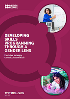Developing skills programming through a gender lens: executive summary, case studies and tools