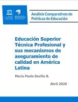 Educación superior técnica y sus mecanismos de aseguramiento de calidad en América latina