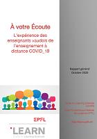 À votre Écoute : L'expérience des enseignants vaudois de l'enseignement à distance COVID _19