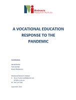 A vocational education response to the pandemic