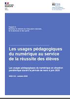 Les usages pédagogiques du numérique en situation pandémique durant la période de mars à juin 2020