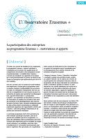 La participation des entreprises au programme Erasmus + : motivations et apports
