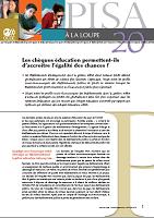 n° 20 - septembre 2012 - Les chèques éducation permettent-ils d'accroître l'égalité des chances ?