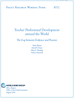 Teacher professional development around the world: the gap between evidence and practice