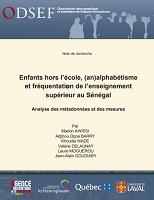 Enfants hors l'école, (an)alphabétisme et fréquentation de l'enseignement supérieur au Sénégal : analyse des métadonnées et des mesures