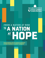 From a nation at risk to a nation at hope: recommendations from the national commission on social, emotional, and academic development