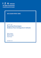 Revealing stereotypes: evidence from immigrants in schools