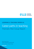 Career paths in teaching : thematic peer group report