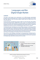 Languages and the digital single market