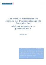 Les outils numériques au service de l'apprentissage du français des adultes migrant.e.s parisien.ne.s