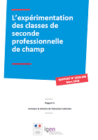 Voie professionnelle : l'expérimentation des classes de seconde professionnelle de champ