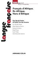 n° 202 - juin 2019 - Français d'Afrique. En Afrique. Hors d'Afrique