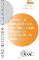 Existe-t-il une politique des ressources humaines à l'éducation nationale ? Dossier