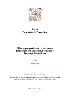 Bilan et perspectives de recherches en techonologie de l'éducation, formation et pédagogie universitaire : dossier