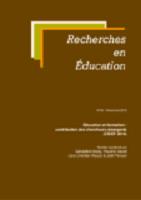 Education et formation : contribution des chercheurs émergents (CIDEF 2018)