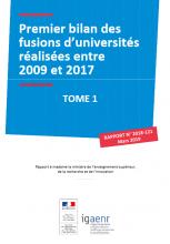 Premier bilan des fusions d'universités réalisées entre 2009 et 2017