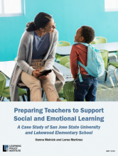 Preparing teachers to support social and emotional learning: a case study of San Jose state university and Lakewood elementary school