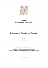 n° e-314 - novembre 2019 - L'alternance en éducation et en formation